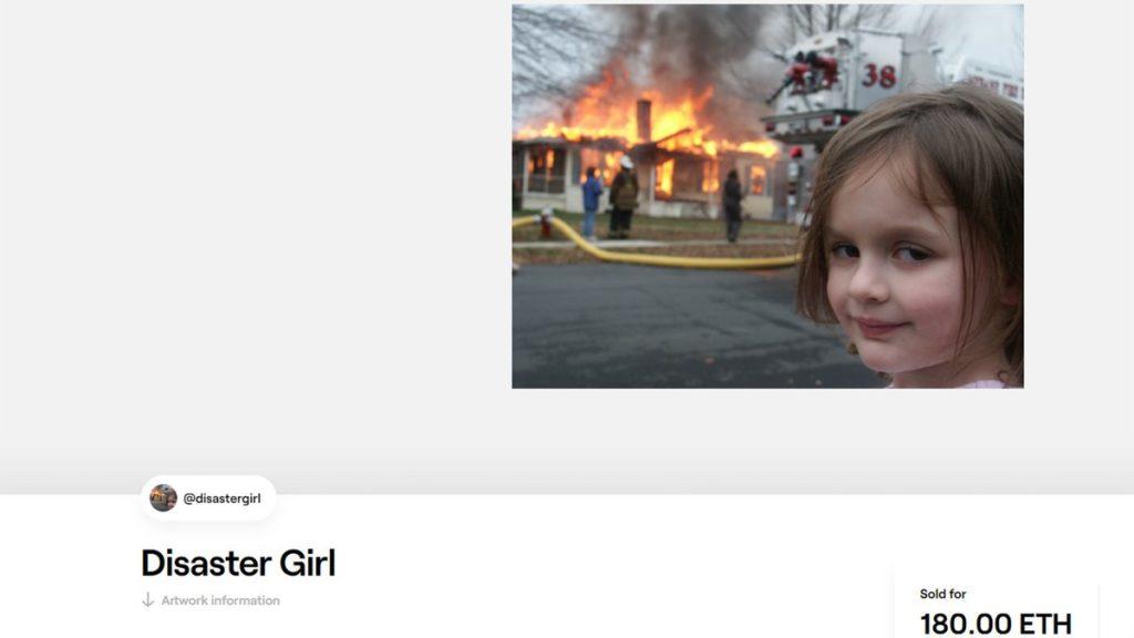 disaster girl ahora es un NFT