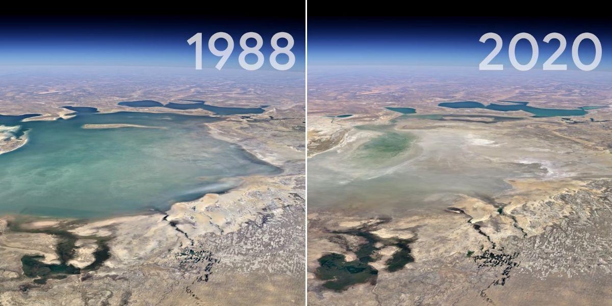 Ahora Google Earth permite 'viajar en el tiempo' y ver cómo ha cambiado la Tierra en 37 años