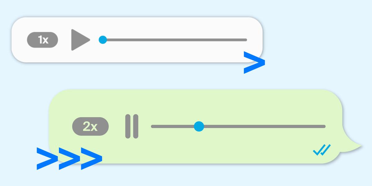 ¿Tus mensajes de audio parecen podcasts? WhatsApp ya permite reproducirlos más rápido