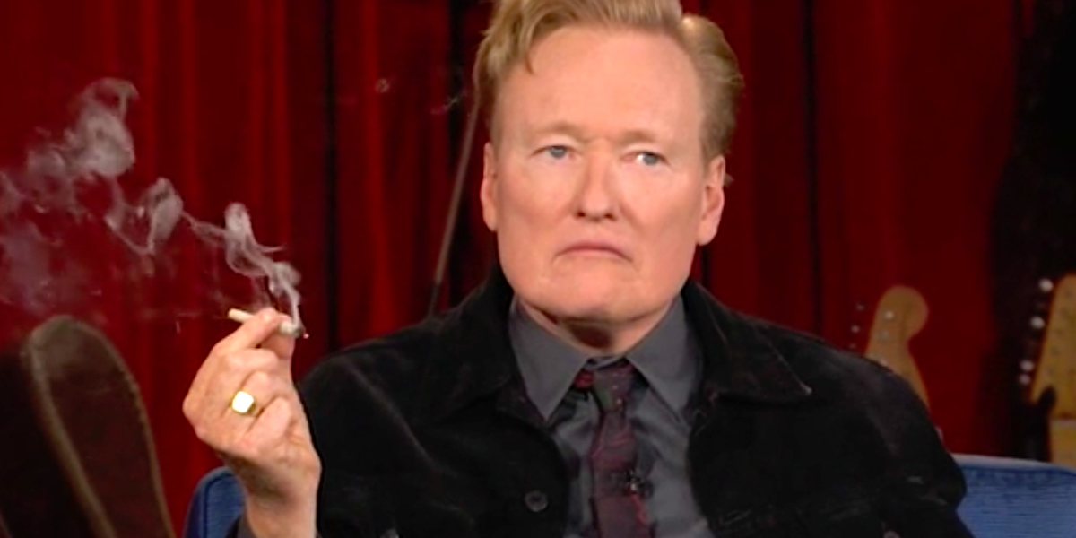 Conan O'Brien fuma marihuana en TV animado por Seth Rogen