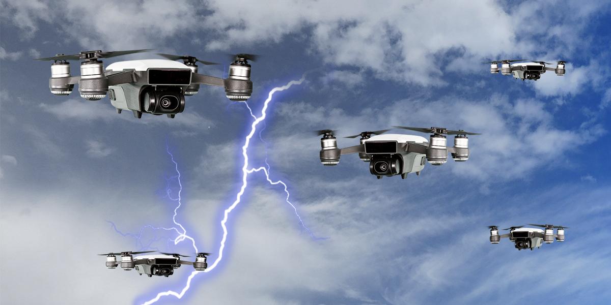 Emiratos Árabes probará drones que sacuden a las nubes para hacer que llueva