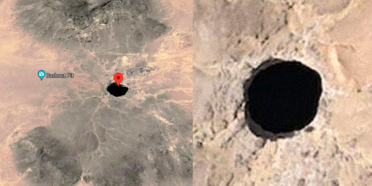 The 'Well of Hell', the gigantic natural hole that fuels legends
