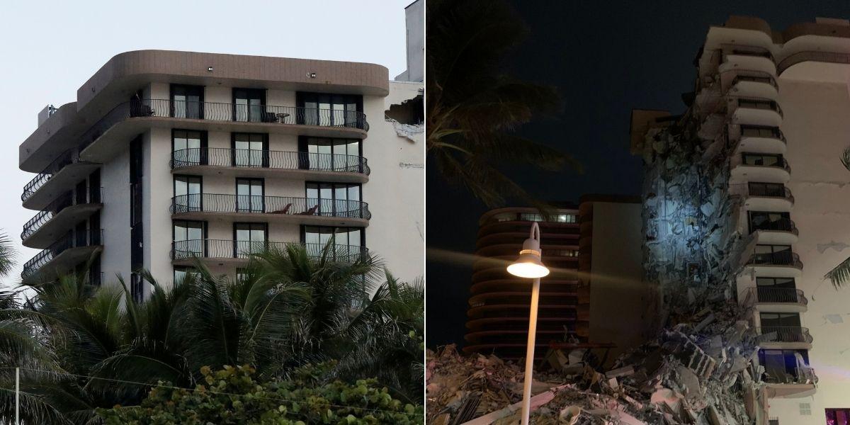 Un edificio residencial de 12 pisos en Miami colapsó en la madrugada
