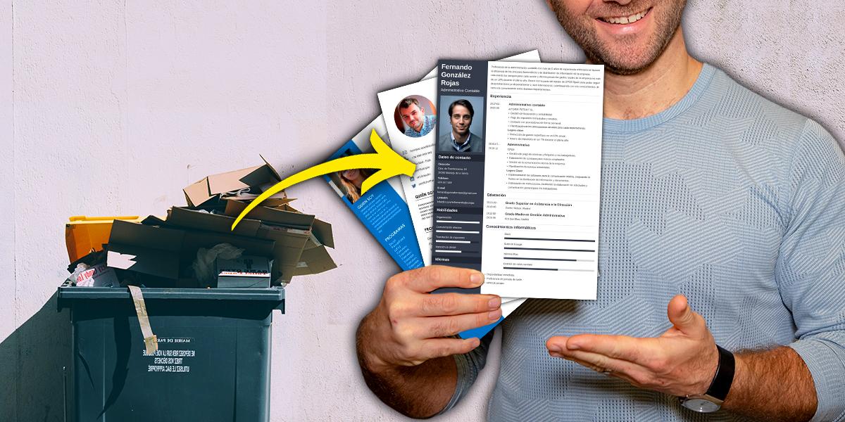 Un hombre distribuye 62 currículums que encontró en la basura y consigue trabajo a 14 personas