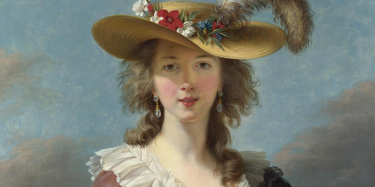 Élisabeth Vigée-Lebrun, Autoportrait, 1790. El cuadro causó un escándalo en su época por mostrar una sonrisa