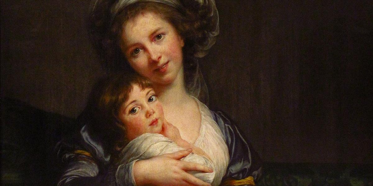 Madame Vigée-Le Brun et sa fille, 1786. Élisabeth Vigée-Lebrun, Autoportrait, 1790. El cuadro causó un escándalo en su época por mostrar una sonrisa
