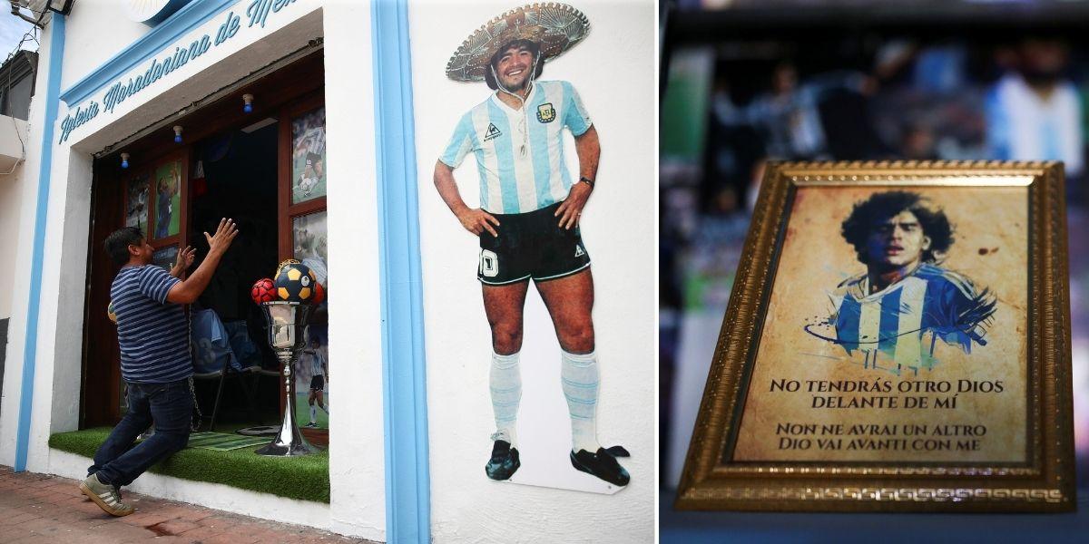 Una iglesia en honor a Maradona abrió sus puertas en México