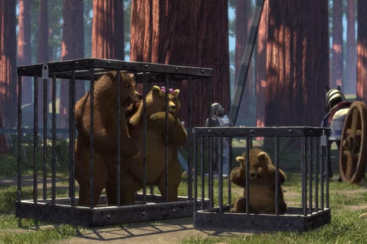 'Mamá oso', 'Papá oso' y 'osito' en Shrek